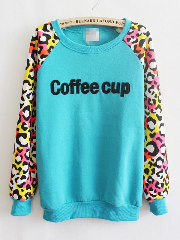 Casual Leopard Blending Halter Round Neck Long Sleeve Printed Straight Tops