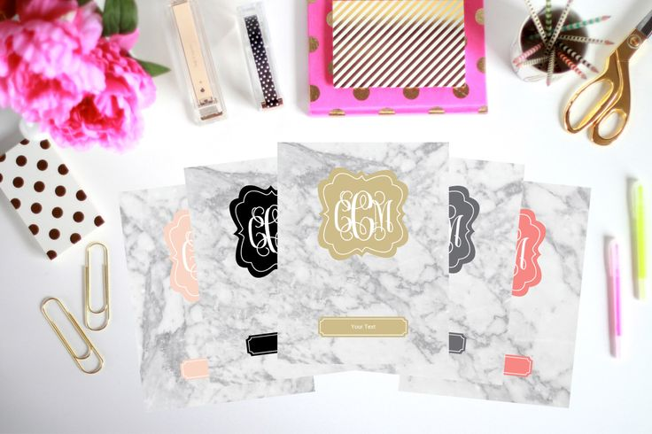 Printable Binder Inserts - Set of 5 - Personalized Monogram Binder Cover and Spine Text (8.5x11in) - Instant Download by ThePreppyGreek on Etsy https://www.etsy.com/listing/267658275/printable-binder-inserts-set-of-5