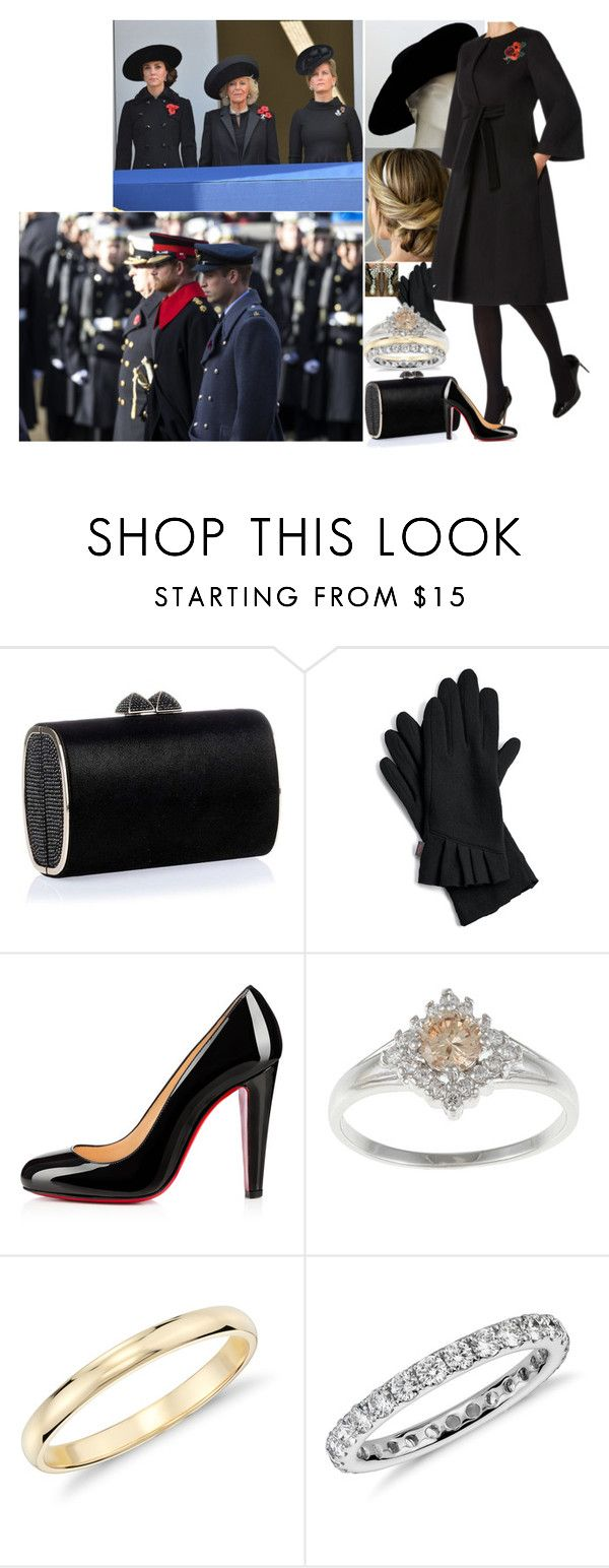 """""""Remembrance Sunday 2016"""" by charlottedebora ❤ liked on Polyvore featuring Jimmy Choo, Echo, Christian Louboutin and Blue Nile"""