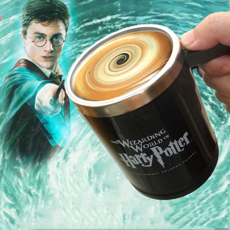 Harry Potter Automatic Self Stirring Mug  //Price: $23.97 & FREE Shipping //     #hermionegranger #dumbledore #malfoy #jamespotter #voldemort