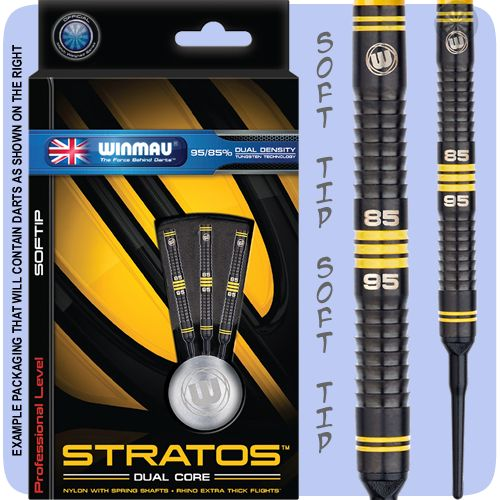Winmau Stratos Darts - Soft Tip Tungsten - Dual Density - S5 - Dual Core - Black - 18g ST - http://www.dartscorner.co.uk/product_info.php?products_id=19462