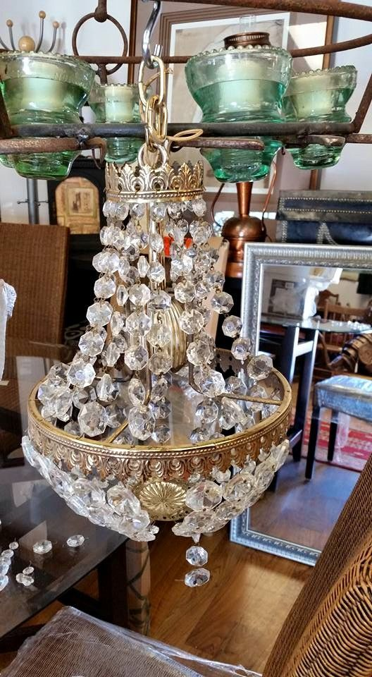 Cute chandelier! On store #collingwood perfect #bling addition for the home #homedecor #interiordesign #antiques