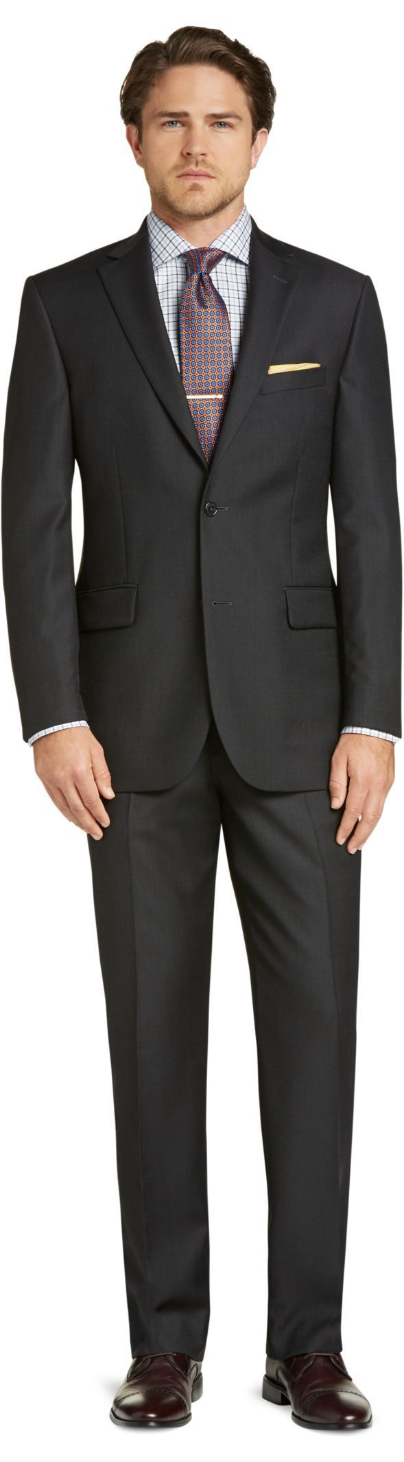 Check this out! Signature Collection Tailored Fit Solid Pattern Suit from JoS. A. Bank Clothiers. #JosABank