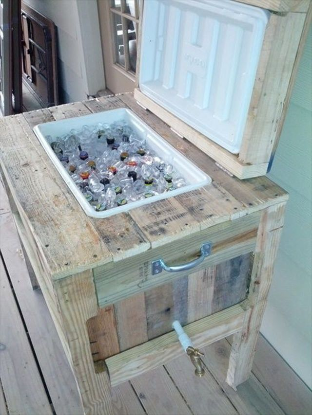 17 best ideas about pallet cooler on pinterest diy for Diy pallet projects with instructions