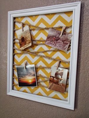 Tutorial for how to make an awesome DIY memo board for under $10! Easily customizable using different colors and fabrics.