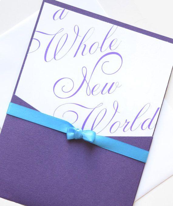 Aladdin Wedding Invitation A Whole New World by aDazzlingPlace
