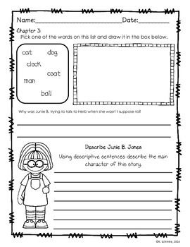 junie b jones first grader at last book companion - Junie B Jones Coloring Pages