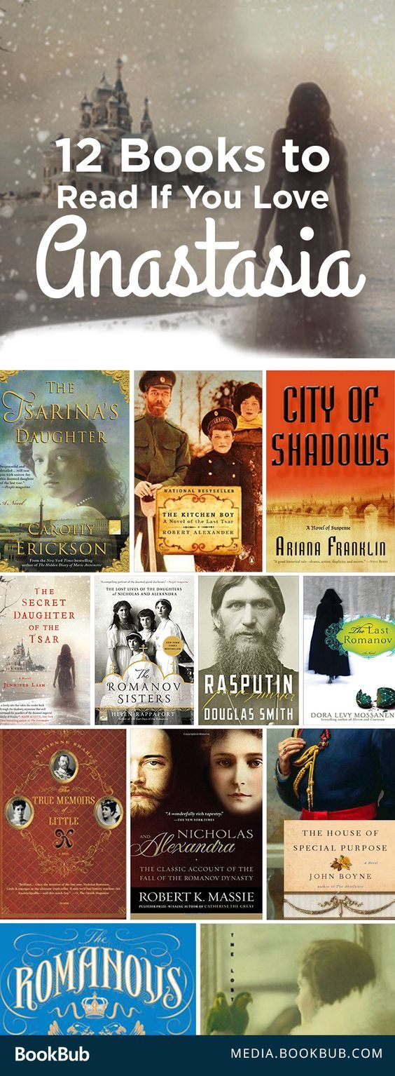 15 books to read if you're fascinated by Anastasia. If you love the Disney fairy tale but are interested to see the rest of the story behind it, check out these fiction and nonfiction reads! Including historical fiction novels.