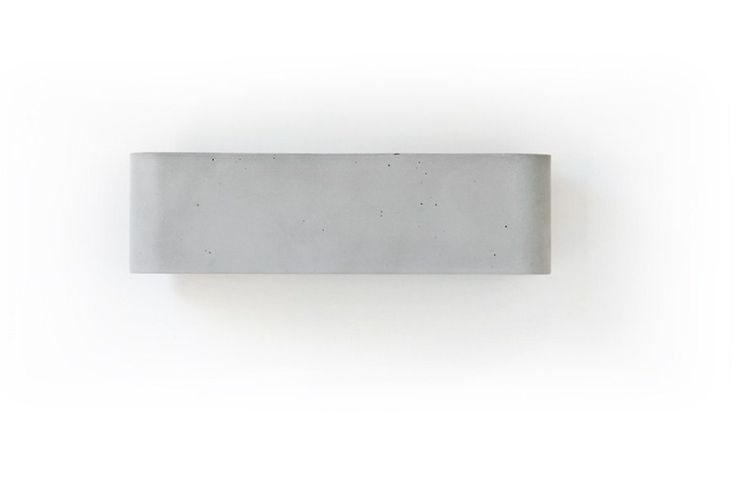 Download the catalogue and request prices of Luce10 by Moab 80, cement wall lamp design Paolo Zani, Studio Moab