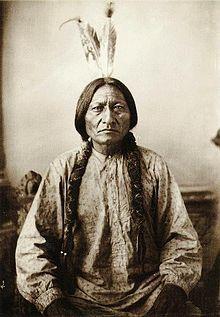 """T'at'anka Lyotake """"Bisonte seduto"""", capo indiano dei Sioux Hunkpapa (1831-1890), meglio conosciuto come Toro seduto"""
