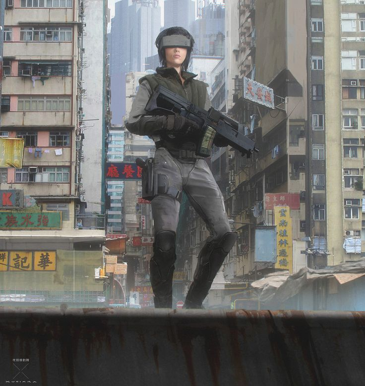 ArtStation - Ghost in the Shell - Major's Tactical and Thermoptics, Maciej Kuciara