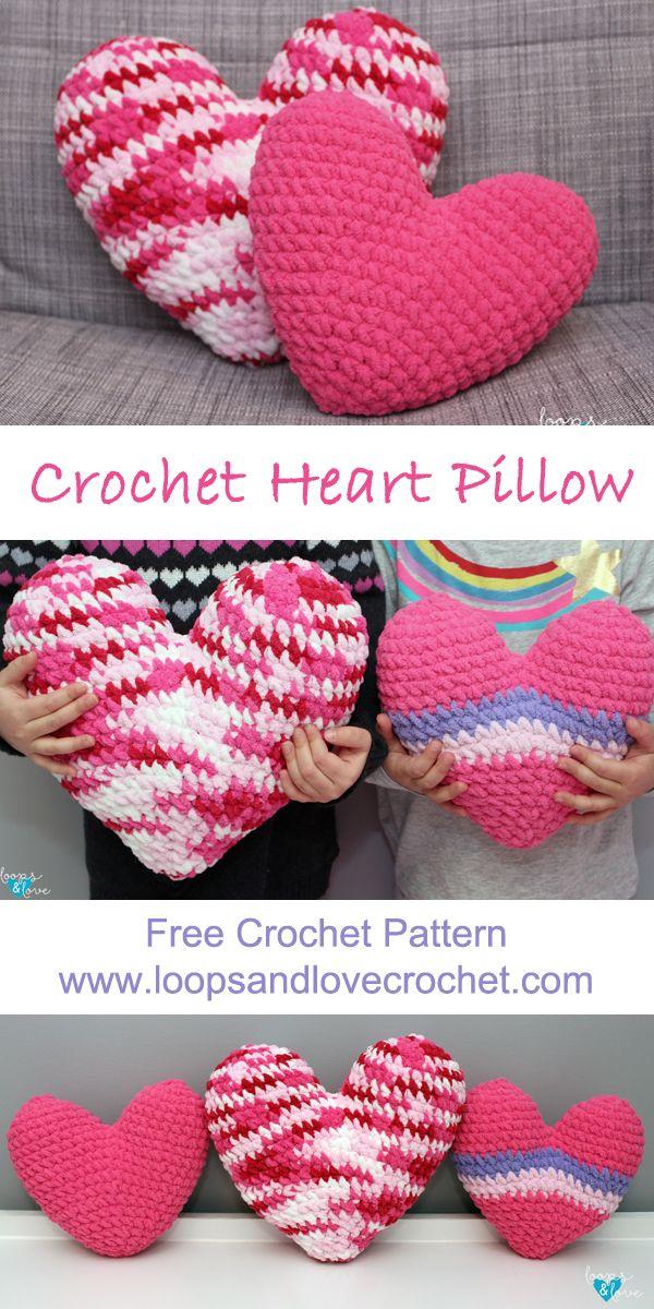 Crochet Heart Pillow Sewing