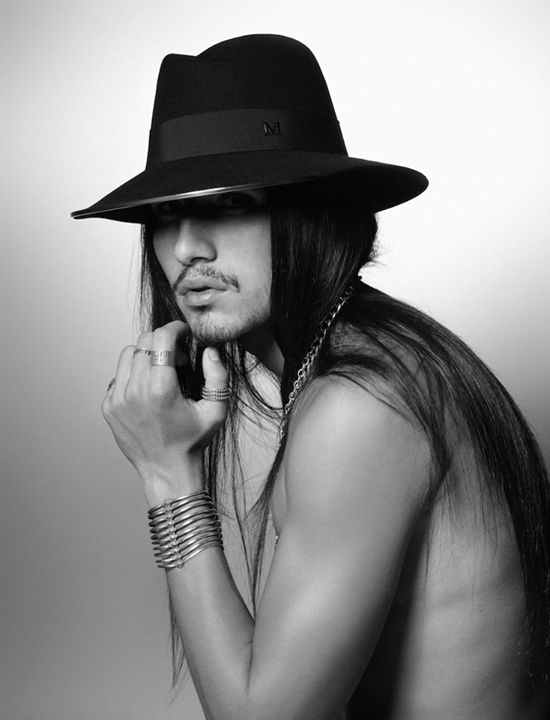 Maison michel spring summer 13 willy cartier wearing virginie hat photo by - Maison karl lagerfeld ...