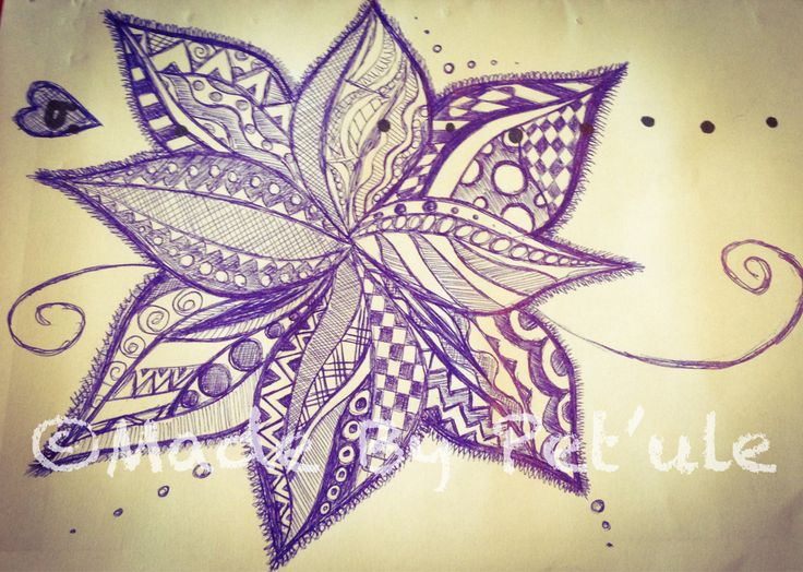 Zentangle flower Made by Peťule