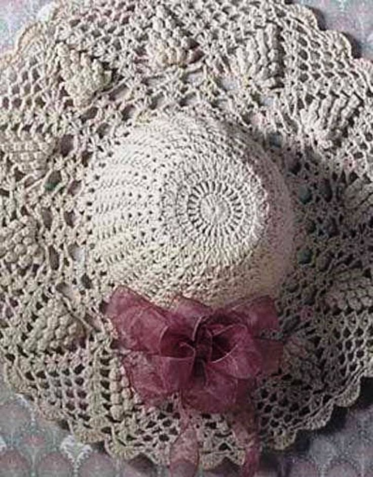 A lovely crochet hat, so chic to wear this summer