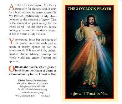 The 3 O'Clock Prayer - Alternate Prayer Card