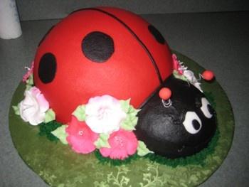 Ladybug cake for a baby shower!