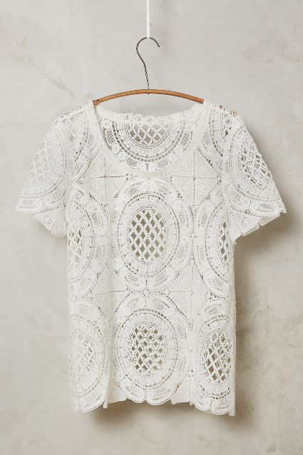 cutwork lace tee / anthropologie