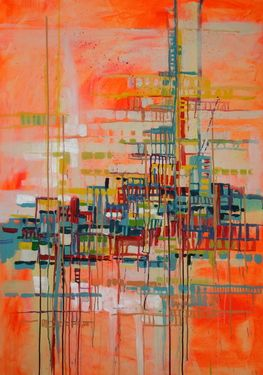 "Saatchi Online Artist Marta Zawadzka; Painting, ""big city"" #art"