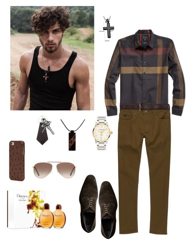 """Untitled #579"" by lianatzelese on Polyvore featuring GUESS, RVCA, AMI, Calvin Klein, Tom Ford, Vivienne Westwood, Montblanc, NOVICA, The Case Factory and men's fashion"