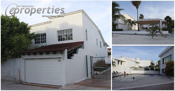 #EpropertiesVipRealEstate tiene el gusto de presentarte esta preciosa casa en Conjunto Bahía ubicada en el Boulevard Kukulcán Km. 3 de la Zona Hotelera de la Ciudad de Cancún. ¡No busques más y llámanos! (998) 146 51 54 o al 01-800-837-0031 #PropiedadesDeLujo