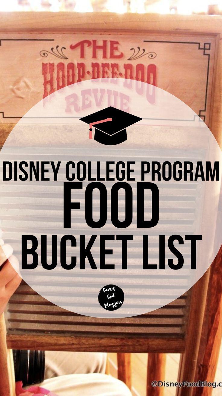 Disney College Program Food Bucket List