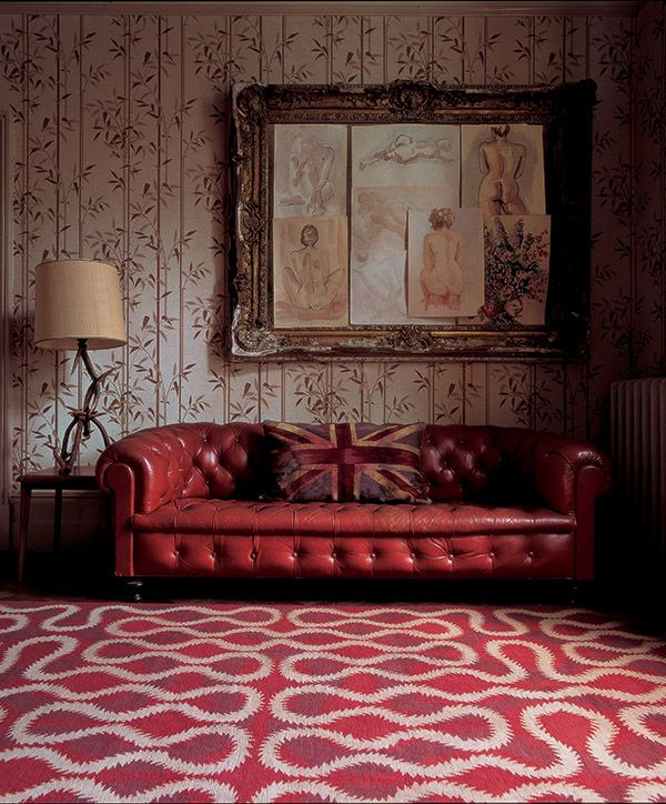 Squiggle Orange by Vivienne Westwood for The Rug Company