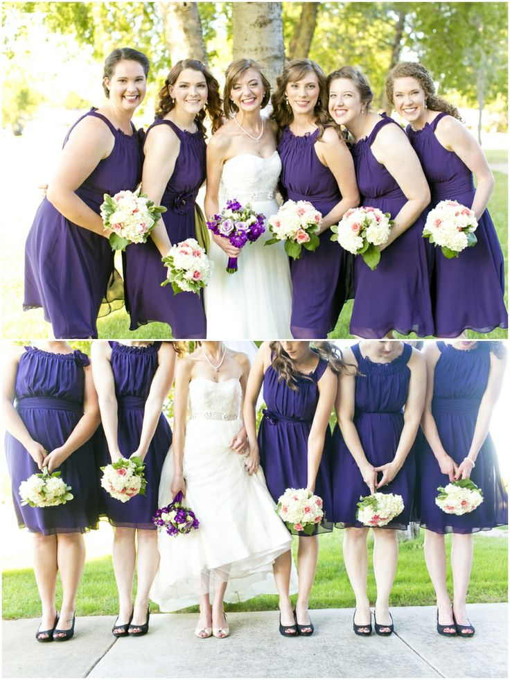 Dallas wedding photographer, purple bridesmaid dresses, purple and white wedding bouquets, bridal party photo ideas, Purple & Vintage Inspired Wedding | Forth Worth » Mary Fields Photography