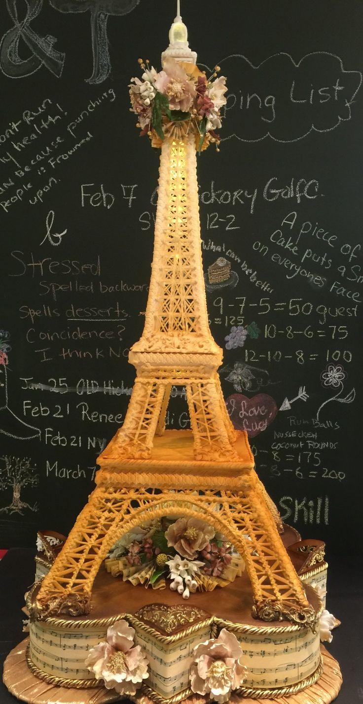 Eiffel Tower Cake made by M&T Events -