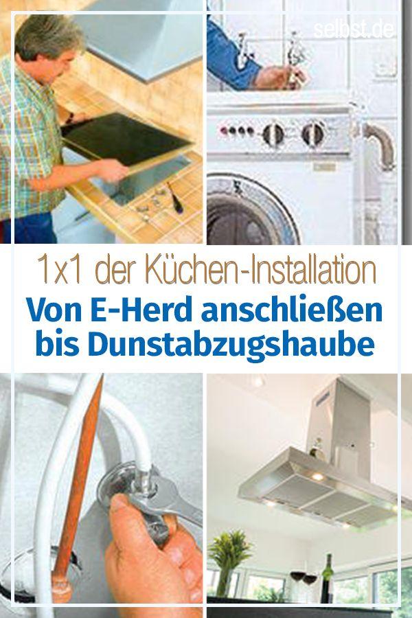 Kuchengerate Selbst Einbauen Kucheninstallation Kuche Renovieren Waschmaschine