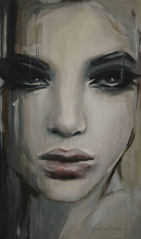 "Saatchi Online Artist: Hesther Van Doornum; Acrylic, 2013, Painting ""See beneath your beautiful (sold)"""
