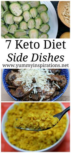 7 Keto Side Dishes - Easy Low Carb Sides - LCHF Recipes and Ideas with vegetables including cauliflower, sprouts and more ketogenic diet side inspirations. Perfect for Thanksgiving, Christmas or all year around.