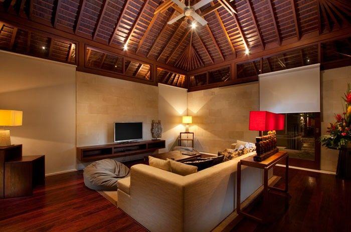 Comfy and homy design of audio visual room at villa. Design by Me/_Dodi Nug