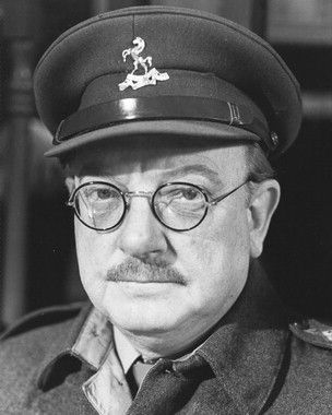 Arthur Lowe. Actor. Born Derbyshire. Played Captain Mainwaring in 'Dad's Army', 1968 - 1977. Collapsed in his Birmingham dressing room and died in a nearby hospital. In 2007 a statue was erected in Thetford, Norfolk, where Dad's Army's external scenes were shot.