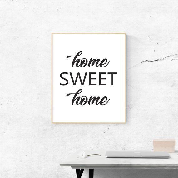 Home Sweet Home Wall Print Wall Decor Home Decor Wall Decoration