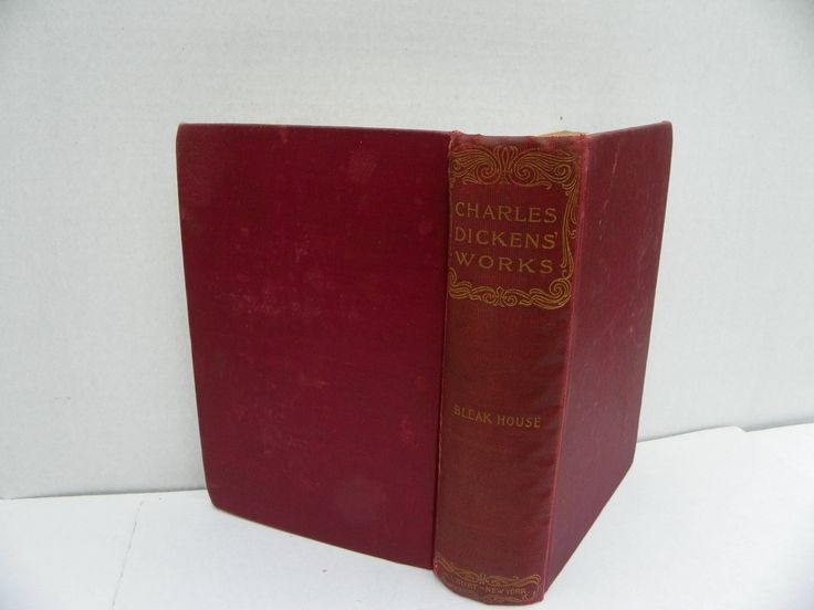 Antique Book - Charles Dickens' Works - Bleak House - A.L. Burt Publisher 1900's , Antique Charles Dickens Novel , Antique Book , by ShersBears on Etsy