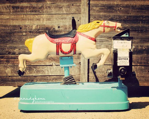At every grocery store.......nursery kids decor colorful vintage retro horse western cowboy texas rustic aqua red cream - Ride - 8 x 10 Fine Art Photography Print via Etsy