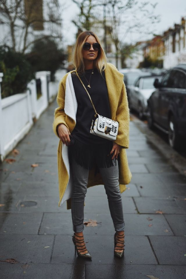 Woman's Fashion, Yellow of the Year. Winter Street Style,