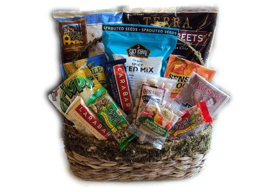Vegetarian Delight Healthy Gift Basket by Well Baskets *** Want additional info? Click on the image.