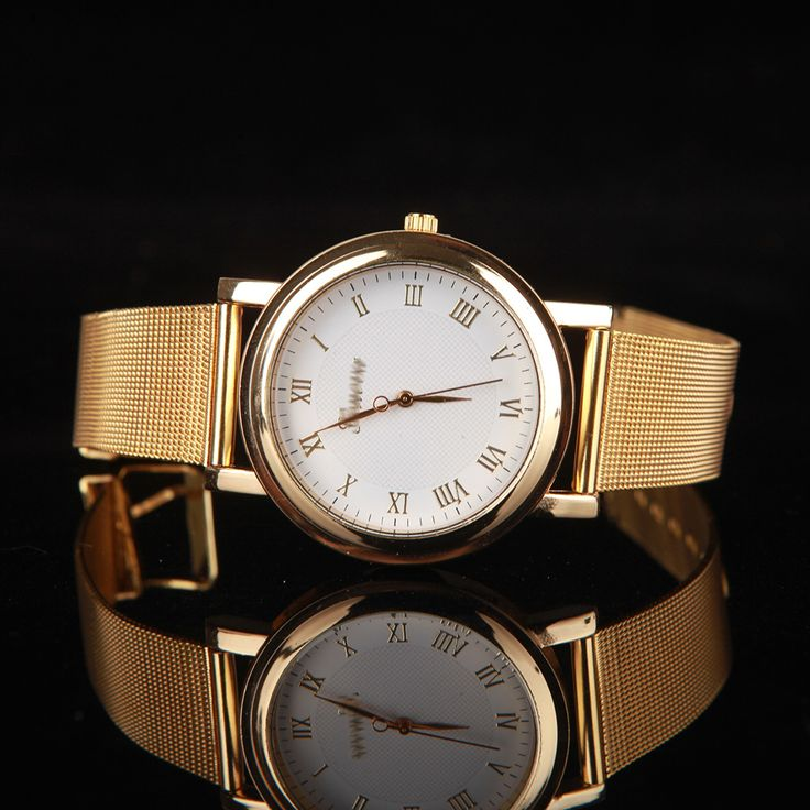 Womens-Fashion-Quartz-Gold-Classic-Stainless-Steel-Excellent-Luxury-Wrist-Watch