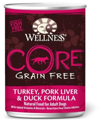 Wellness CORE Turkey/Pork Liver/Duck Dog Food 12/12.5oz