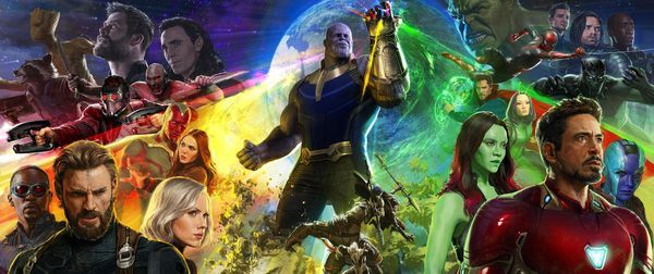 #SDCC17 - Avengers: Infinity War Comic-Con Poster #Marvel (look at wanda and vision ahhh my heart)