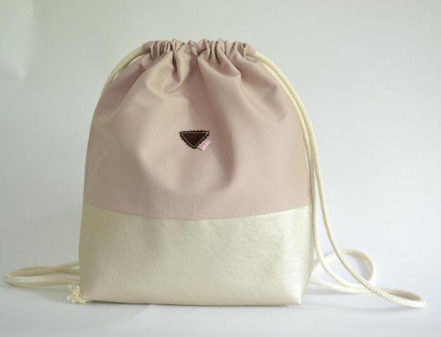 Geschenkvorschlag für Frauen: Turnbeutel in Pastellfarben, Mode / gym bag with pastel colors by mien MAJAmien via DaWanda.com