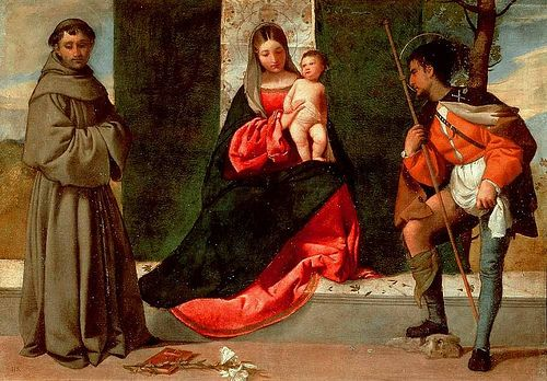 Giorgione - Madonna with the Child - St Anthony Padua and St Roch -1500