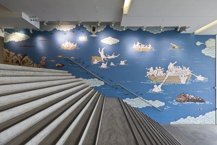 Guan Wei (China/Australia) - The Journey to Australia (2013) (installation view) Museum of Contemporary Art entrance foyer