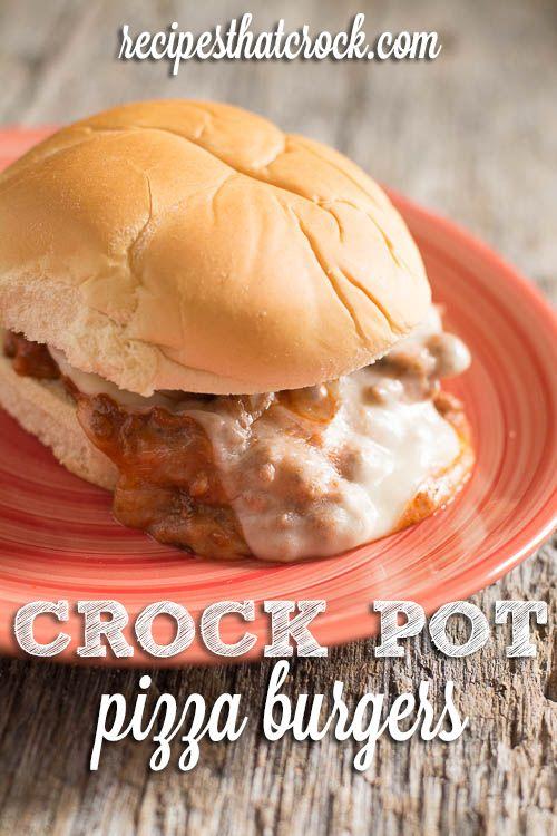 Crock Pot Pizza Burgers