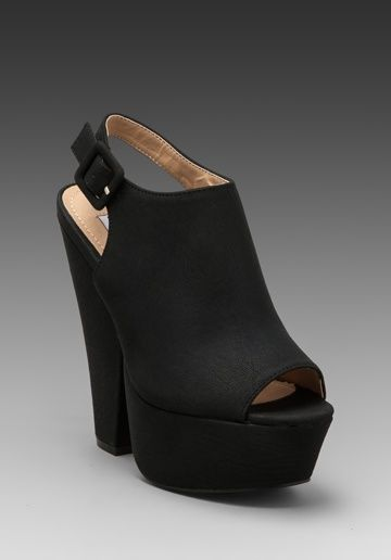 Steve Madden shoes. I bought these and had to return them because they were just so tall but omg I loved them!!