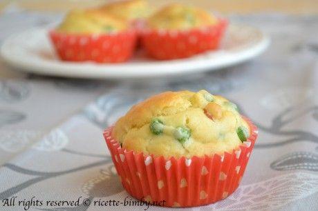 Muffin di piselli e prosciutto cotto #bimby