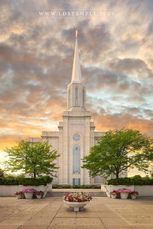 St. Louis Temple Summer Sunset