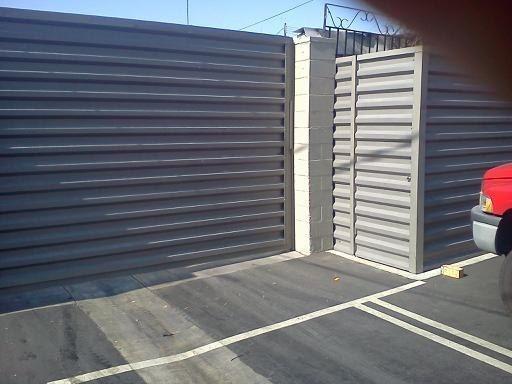 Vertical Steel fencing panels  Bonderized Western Rib